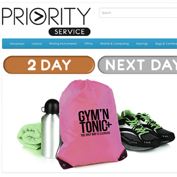 Fast delivery on promotional items